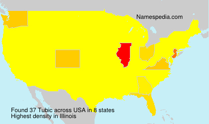 Surname Tubic in USA