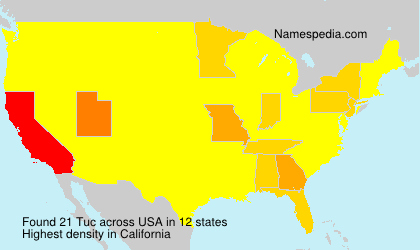 Surname Tuc in USA