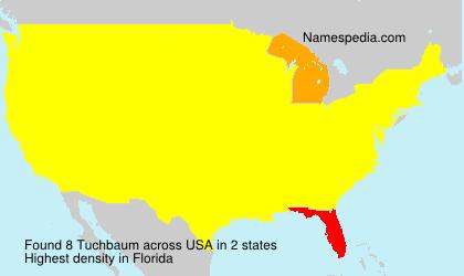 Surname Tuchbaum in USA