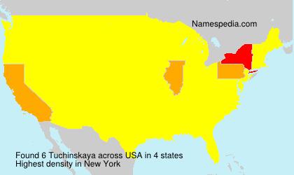 Surname Tuchinskaya in USA