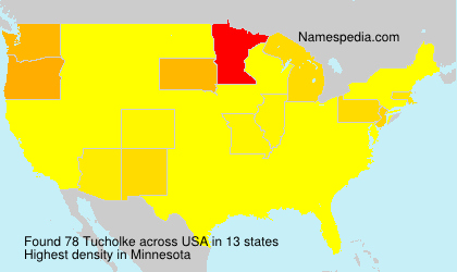 Surname Tucholke in USA