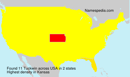 Surname Tuckwin in USA