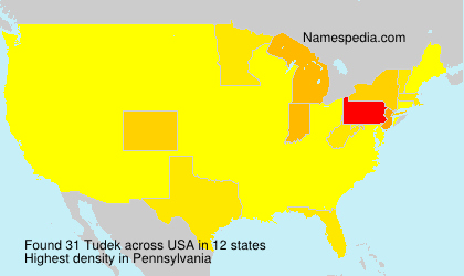 Surname Tudek in USA