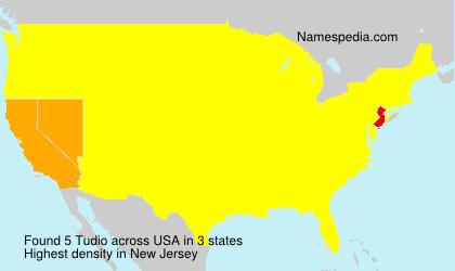 Surname Tudio in USA