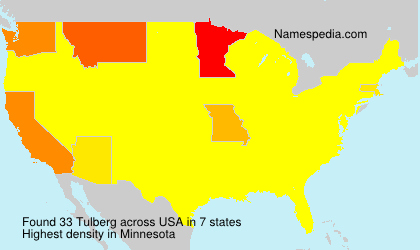Surname Tulberg in USA