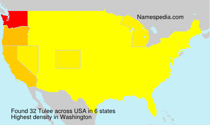 Surname Tulee in USA