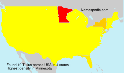 Surname Tulius in USA