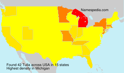 Familiennamen Tulla - USA