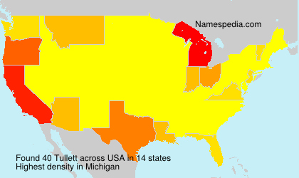 Surname Tullett in USA