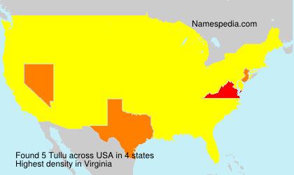 Surname Tullu in USA