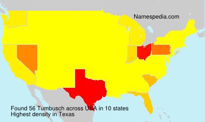 Familiennamen Tumbusch - USA