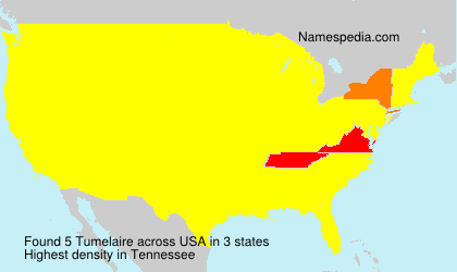 Surname Tumelaire in USA