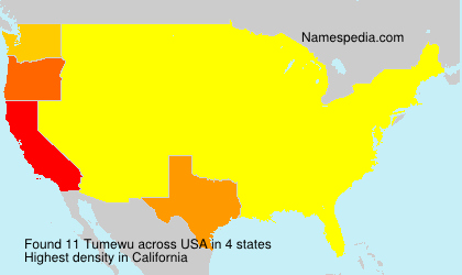 Surname Tumewu in USA