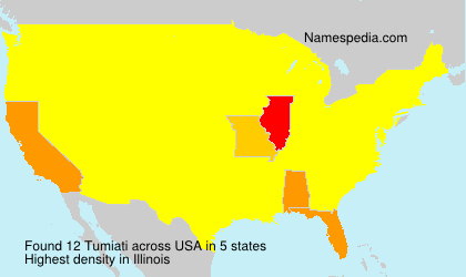 Surname Tumiati in USA