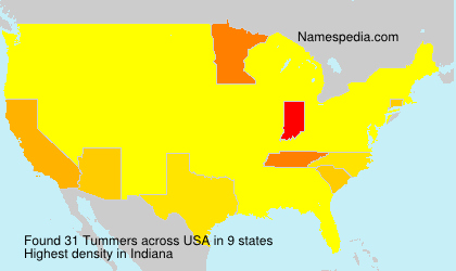 Surname Tummers in USA