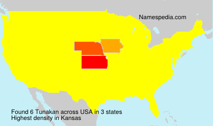 Surname Tunakan in USA