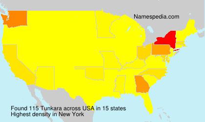 Surname Tunkara in USA
