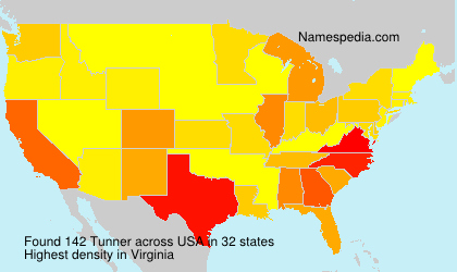 Surname Tunner in USA