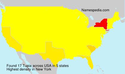 Familiennamen Tupia - USA