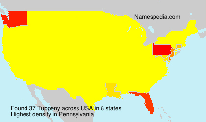 Surname Tuppeny in USA