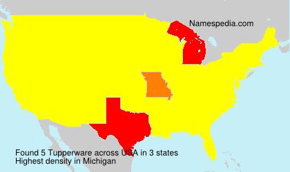 Familiennamen Tupperware - USA
