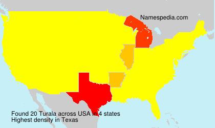 Surname Turala in USA