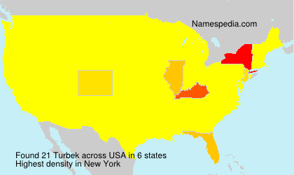 Surname Turbek in USA