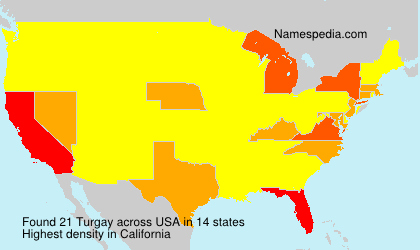 Surname Turgay in USA