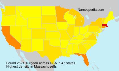 Surname Turgeon in USA
