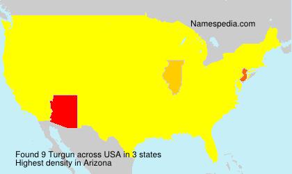 Familiennamen Turgun - USA
