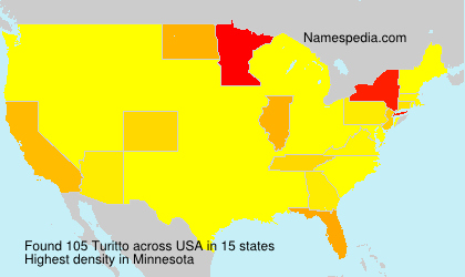 Surname Turitto in USA