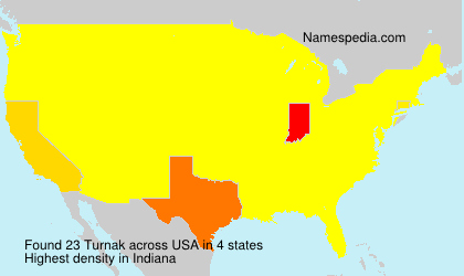 Surname Turnak in USA