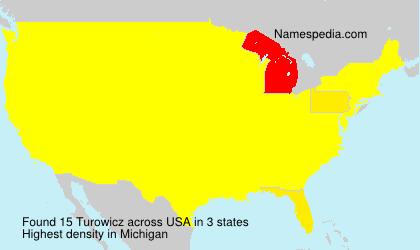 Surname Turowicz in USA