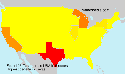 Surname Tuse in USA