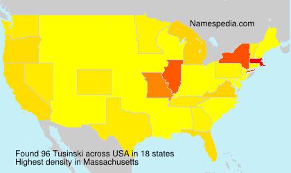 Surname Tusinski in USA