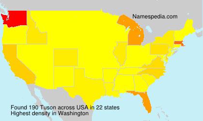 Surname Tuson in USA