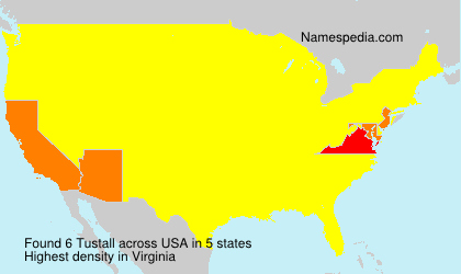 Surname Tustall in USA