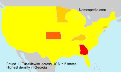 Surname Tuszkiewicz in USA