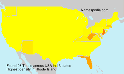 Surname Tutalo in USA