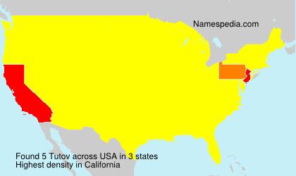 Surname Tutov in USA