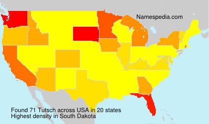 Surname Tutsch in USA