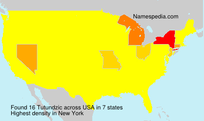 Surname Tutundzic in USA