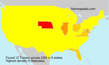 Surname Tuzson in USA
