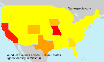 Surname Tveitnes in USA