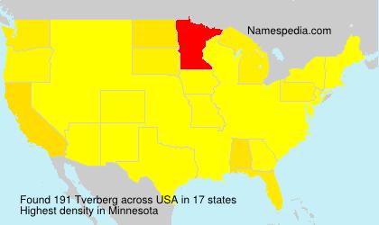 Familiennamen Tverberg - USA