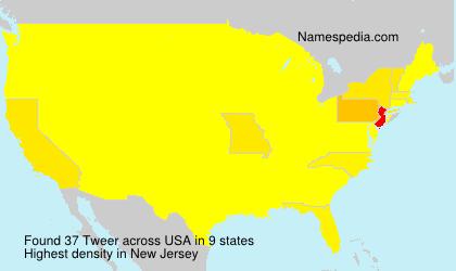 Familiennamen Tweer - USA