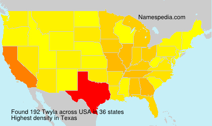 Surname Twyla in USA