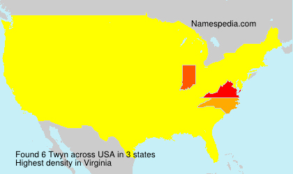 Surname Twyn in USA