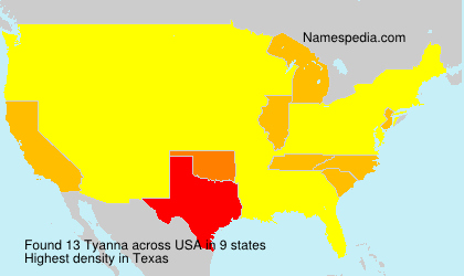 Surname Tyanna in USA