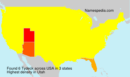 Surname Tydeck in USA